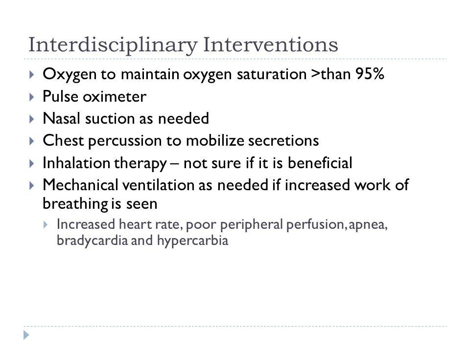 Interdisciplinary Interventions
