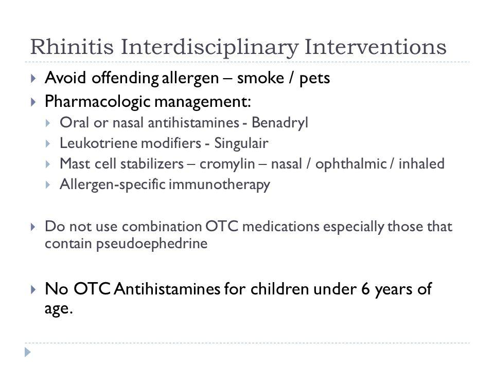 Rhinitis Interdisciplinary Interventions