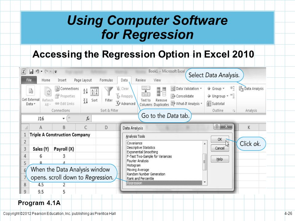 Using Computer Software for Regression
