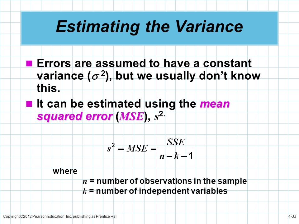 Estimating the Variance