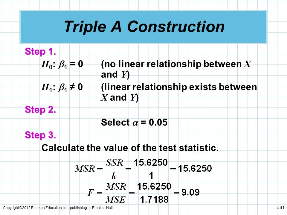 Triple A Construction Step 1.