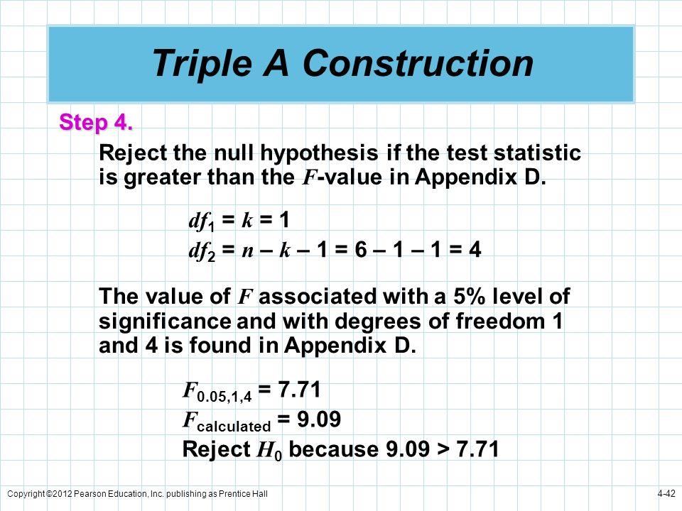 Triple A Construction Step 4.