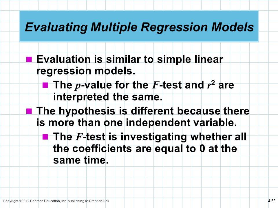 Evaluating Multiple Regression Models