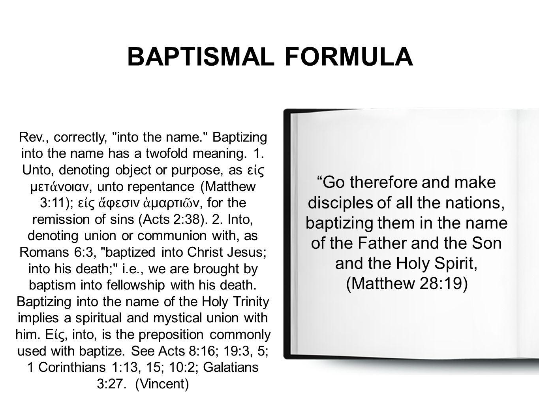 BAPTISMAL FORMULA