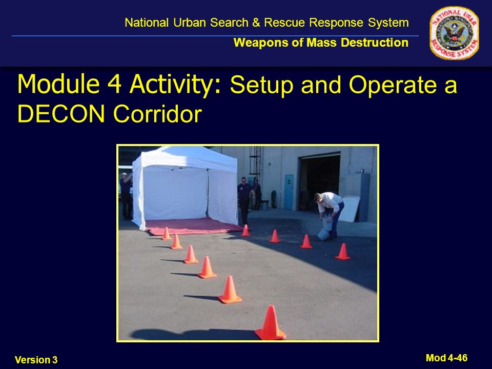 Module 4 Activity: Setup and Operate a DECON Corridor
