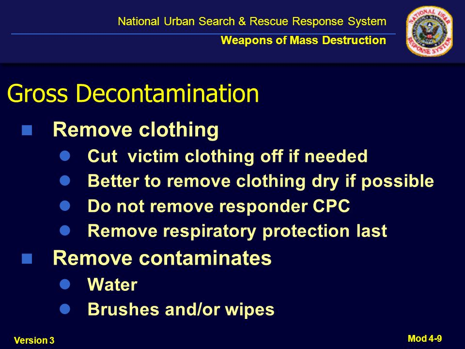Gross Decontamination