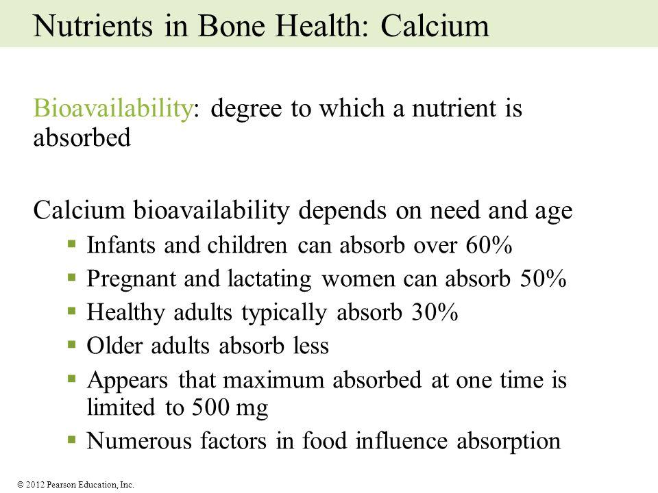 Nutrients in Bone Health: Calcium