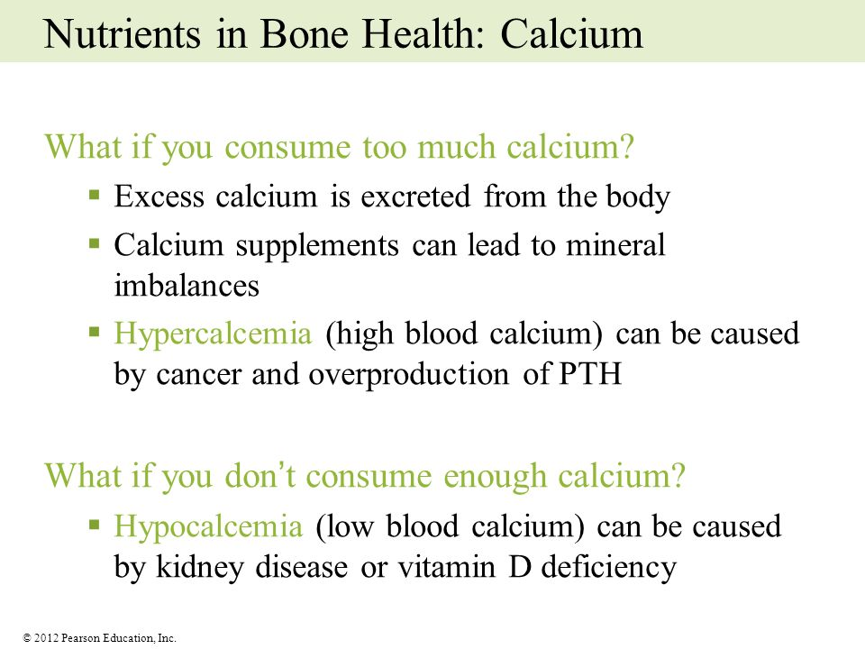 Nutrients in Bone Health: Calcium
