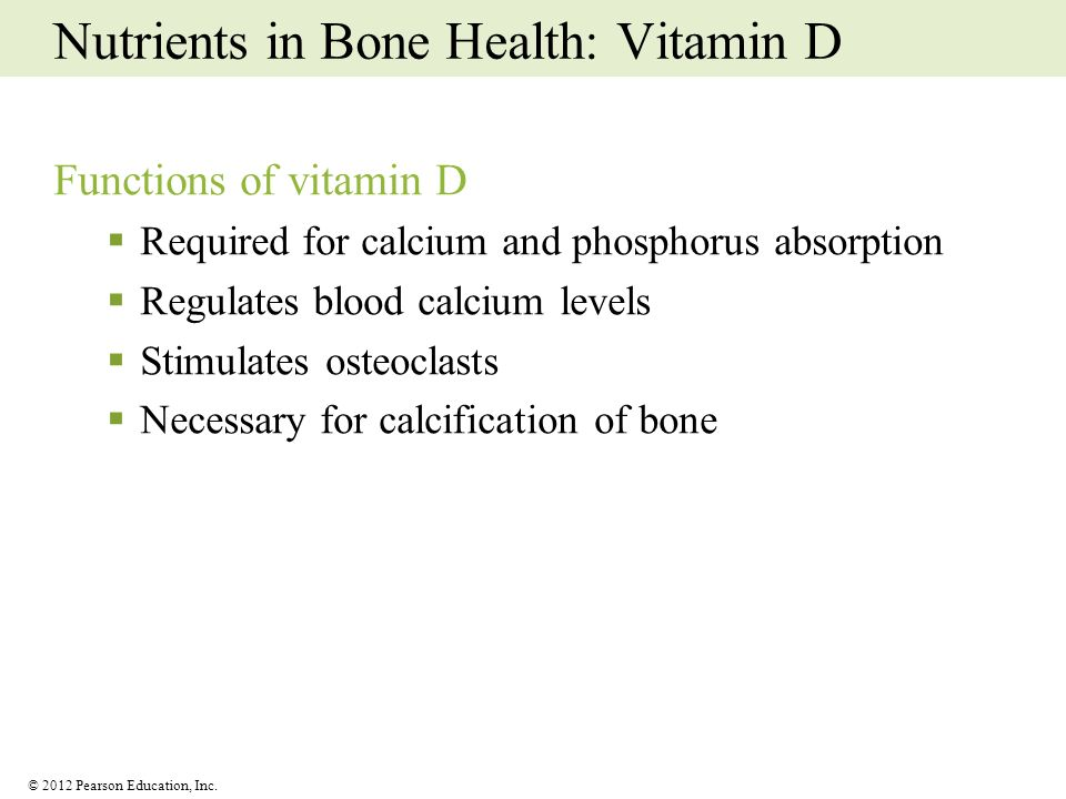 Nutrients in Bone Health: Vitamin D