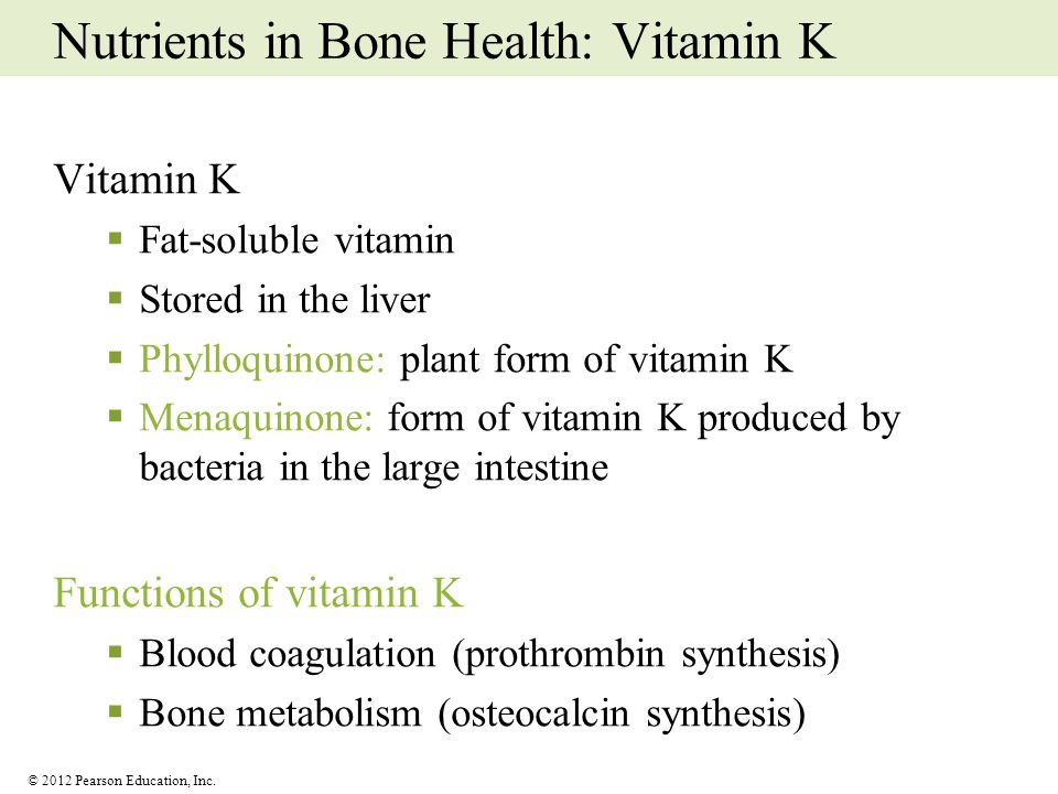 Nutrients in Bone Health: Vitamin K
