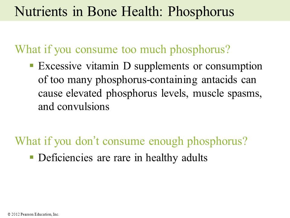Nutrients in Bone Health: Phosphorus