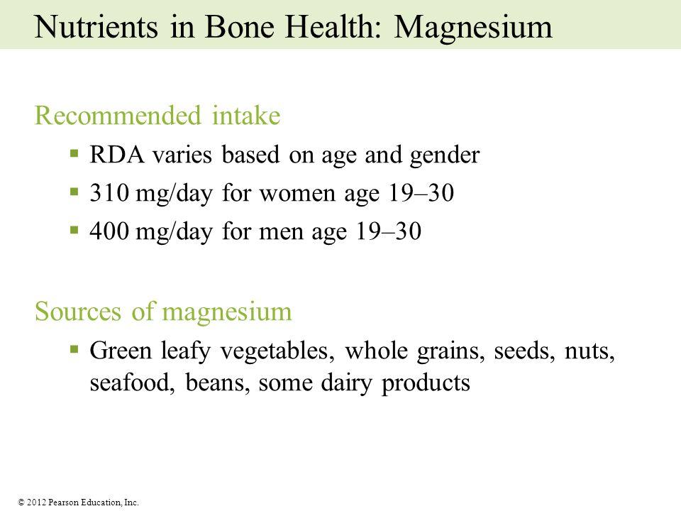 Nutrients in Bone Health: Magnesium