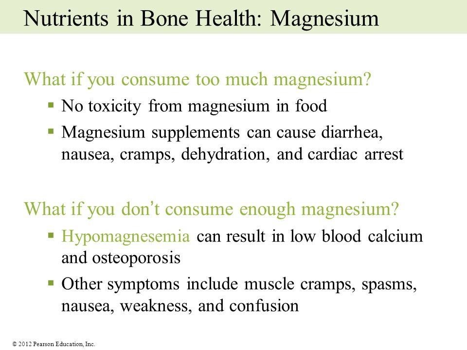 Nutrients in Bone Health: Magnesium