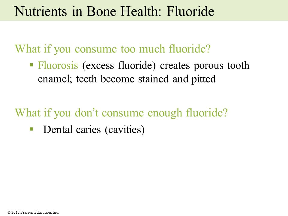Nutrients in Bone Health: Fluoride