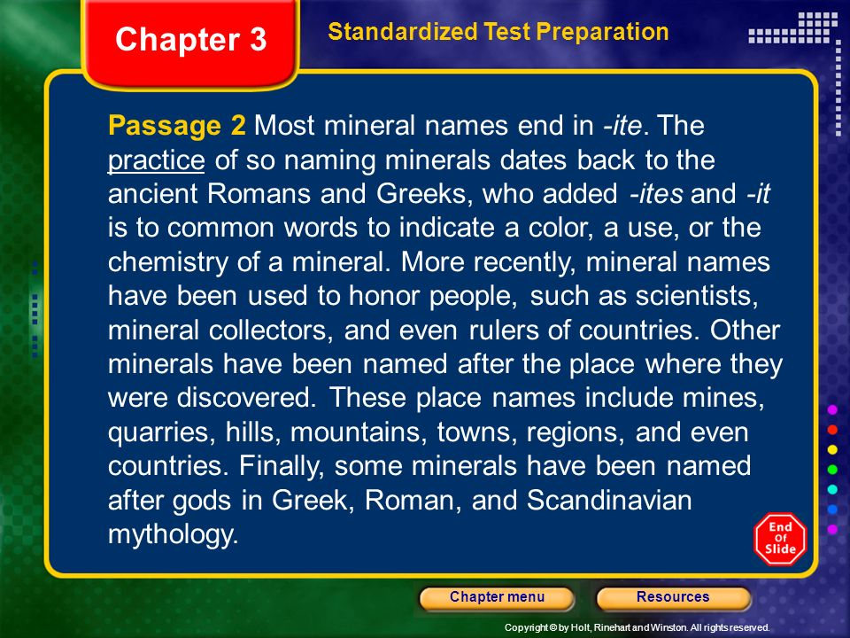 Chapter 3 Standardized Test Preparation.