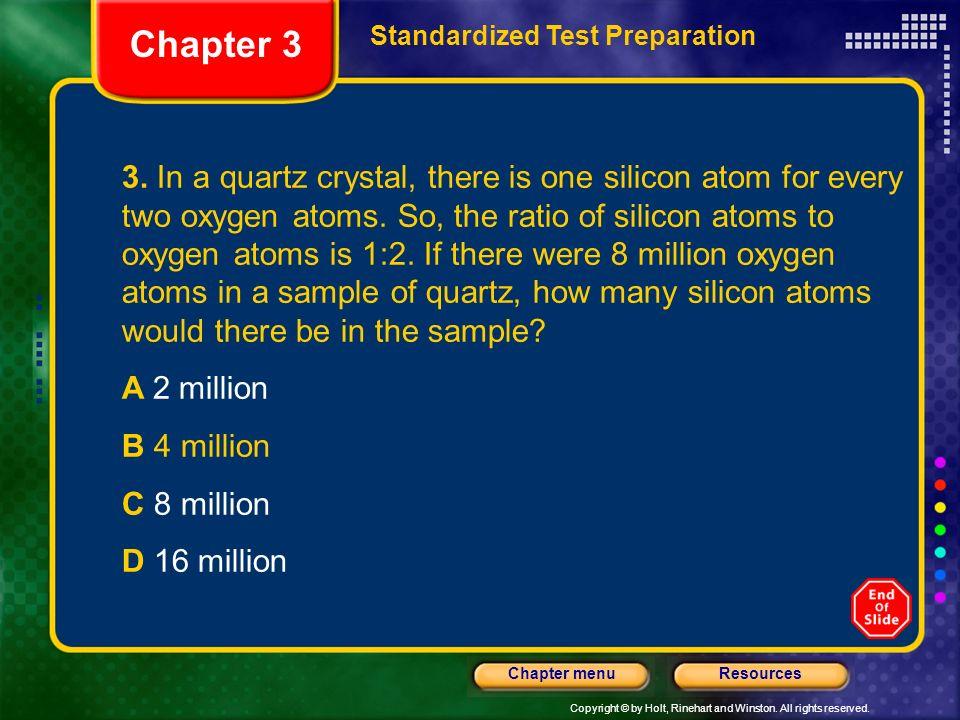 Chapter 3 Standardized Test Preparation.