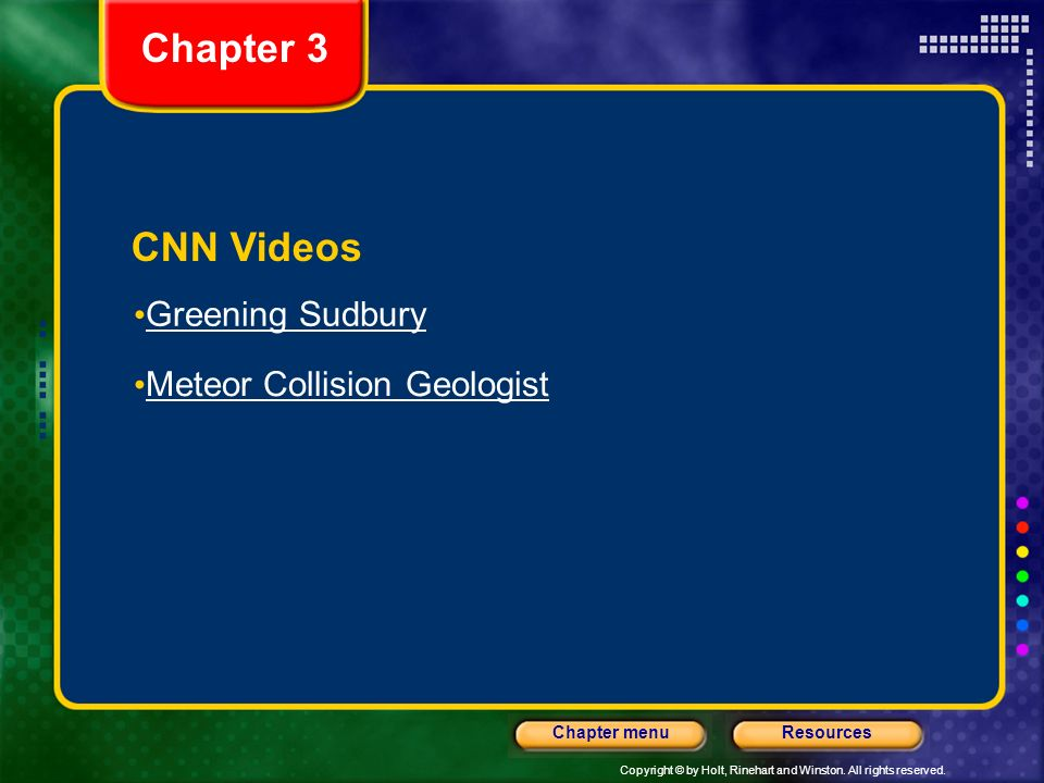 Chapter 3 CNN Videos Greening Sudbury Meteor Collision Geologist