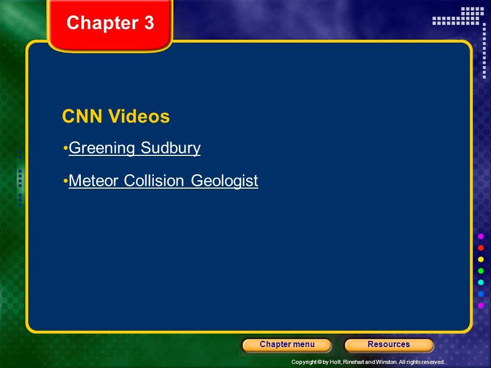 Chapter 3 CNN Videos Greening Sudbury Meteor Collision Geologist
