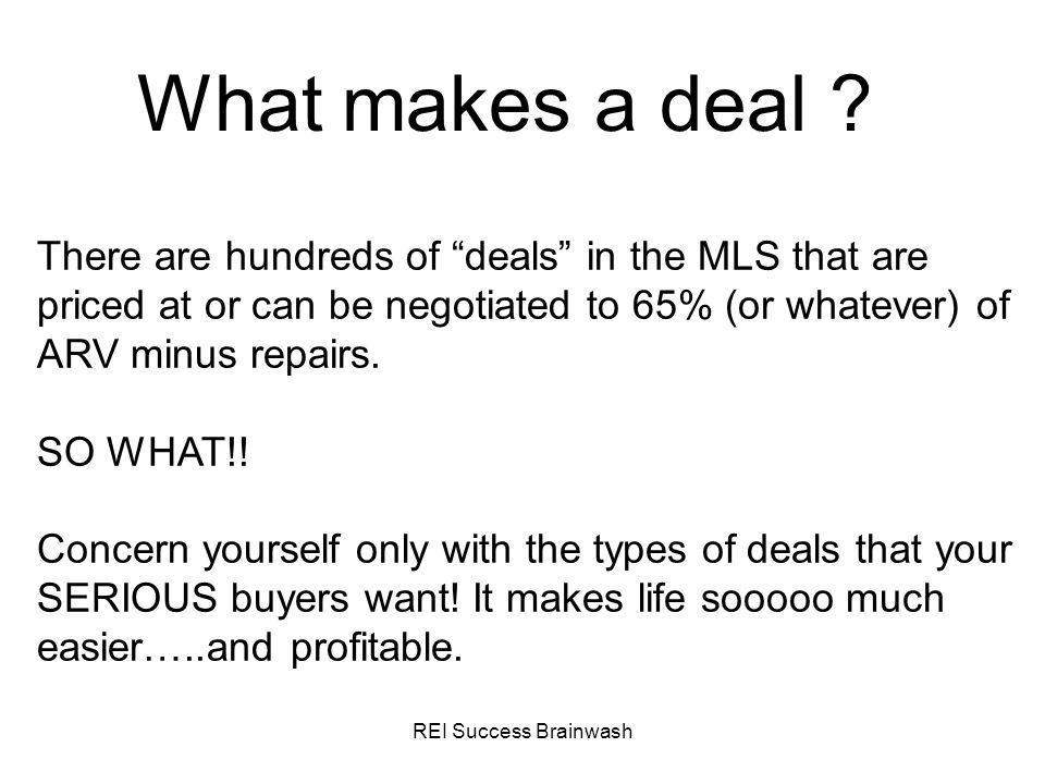 What makes a deal