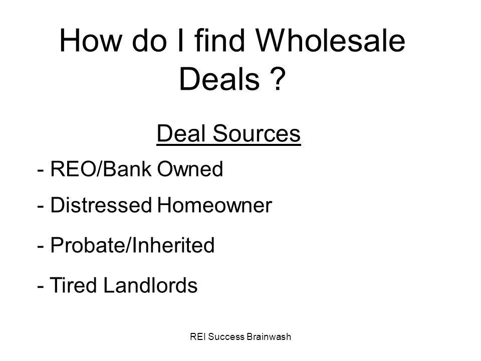 How do I find Wholesale Deals