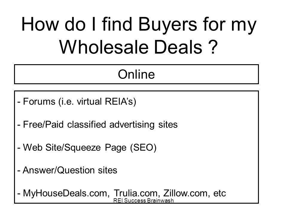 How do I find Buyers for my Wholesale Deals