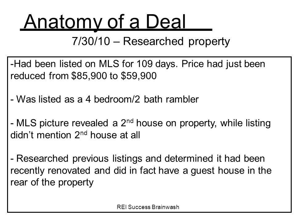 7/30/10 – Researched property