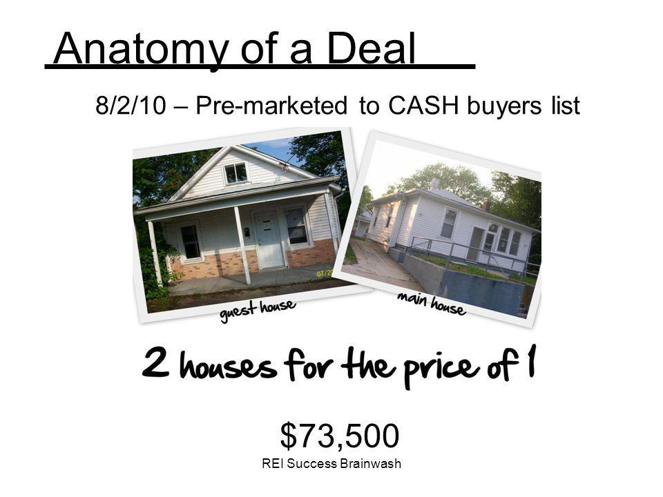 8/2/10 – Pre-marketed to CASH buyers list