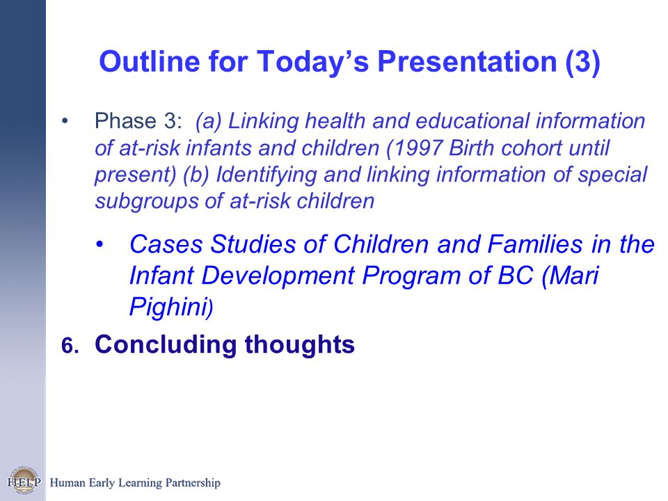 Outline for Today's Presentation (3)