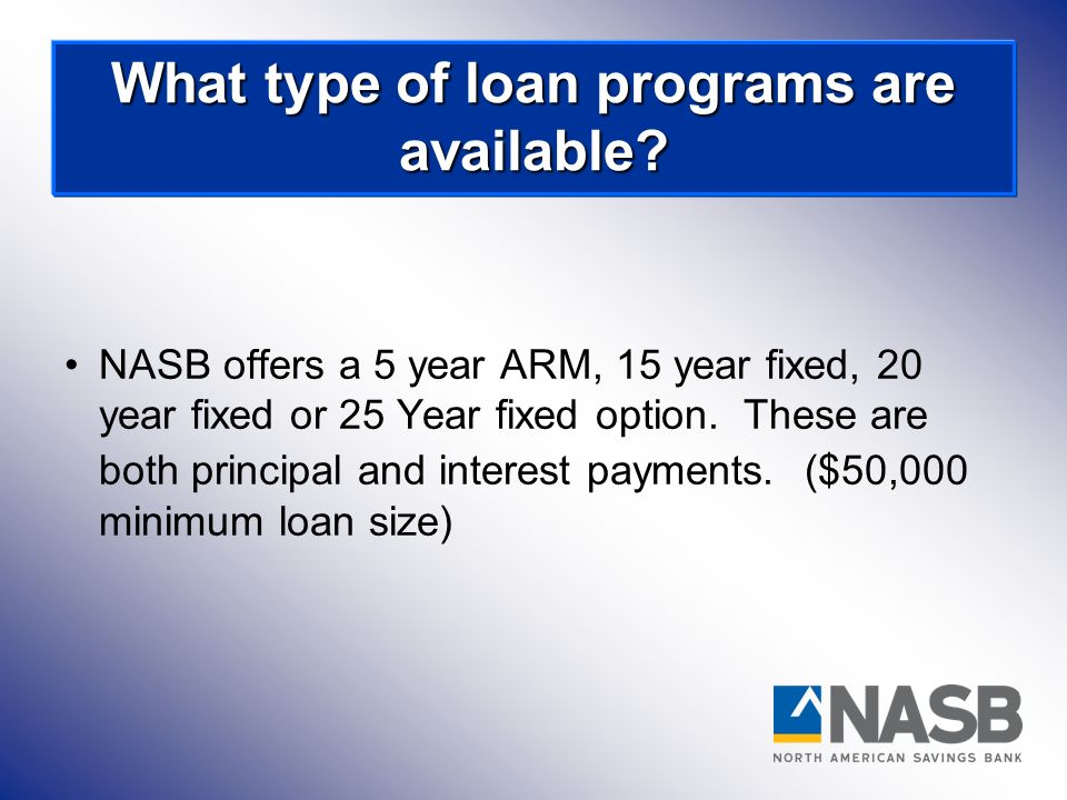 What type of loan programs are available
