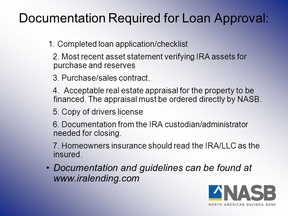 Documentation Required for Loan Approval: