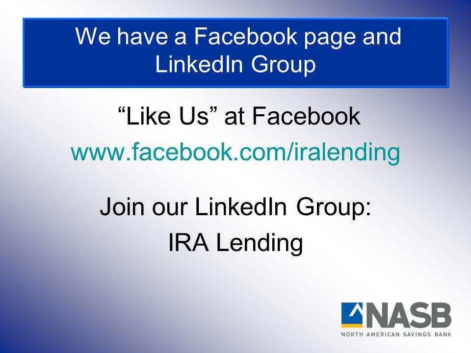 Join our LinkedIn Group: IRA Lending