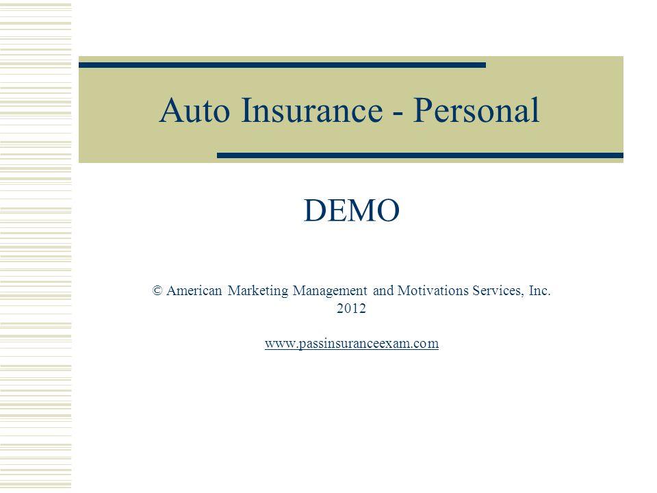 Auto Insurance - Personal