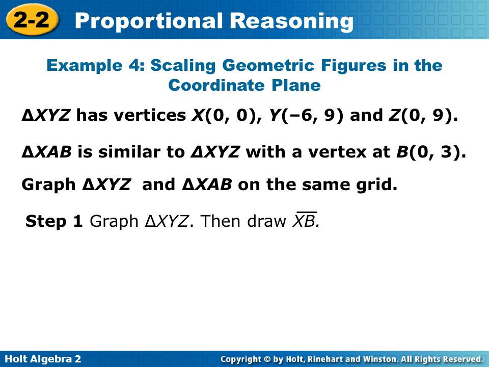 Example 4: Scaling Geometric Figures in the Coordinate Plane