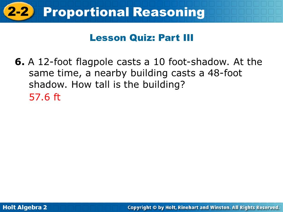 Lesson Quiz: Part III