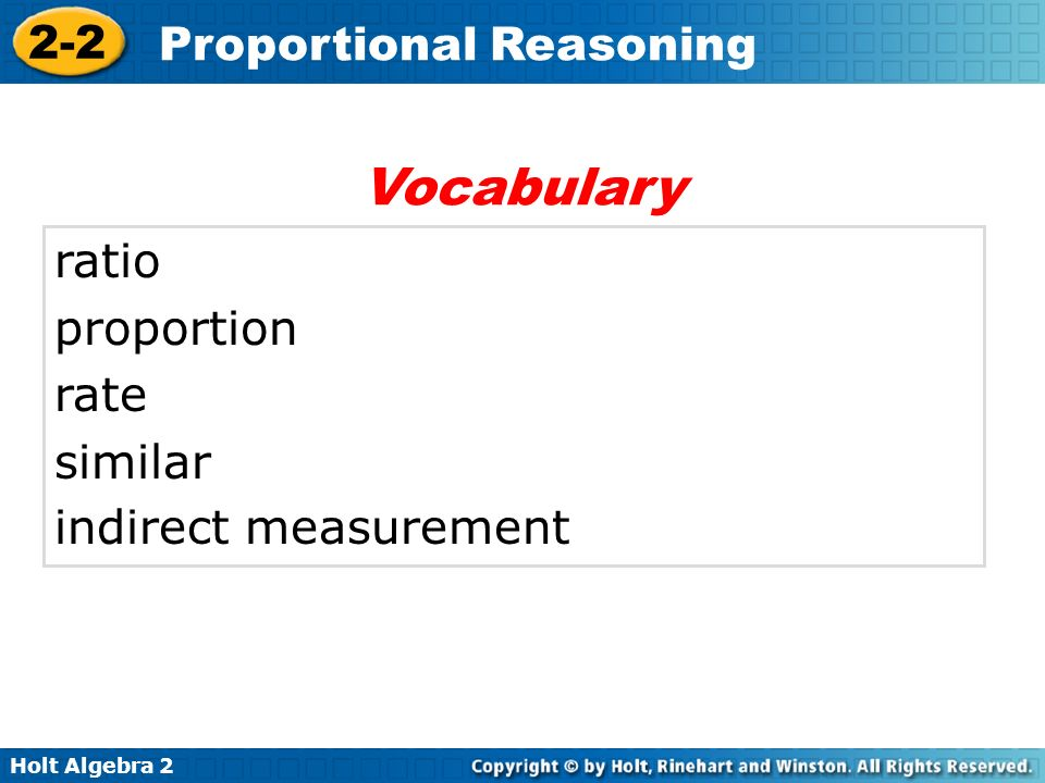 Vocabulary ratio proportion rate similar indirect measurement