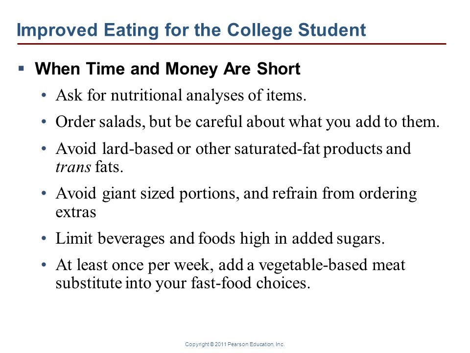 Improved Eating for the College Student