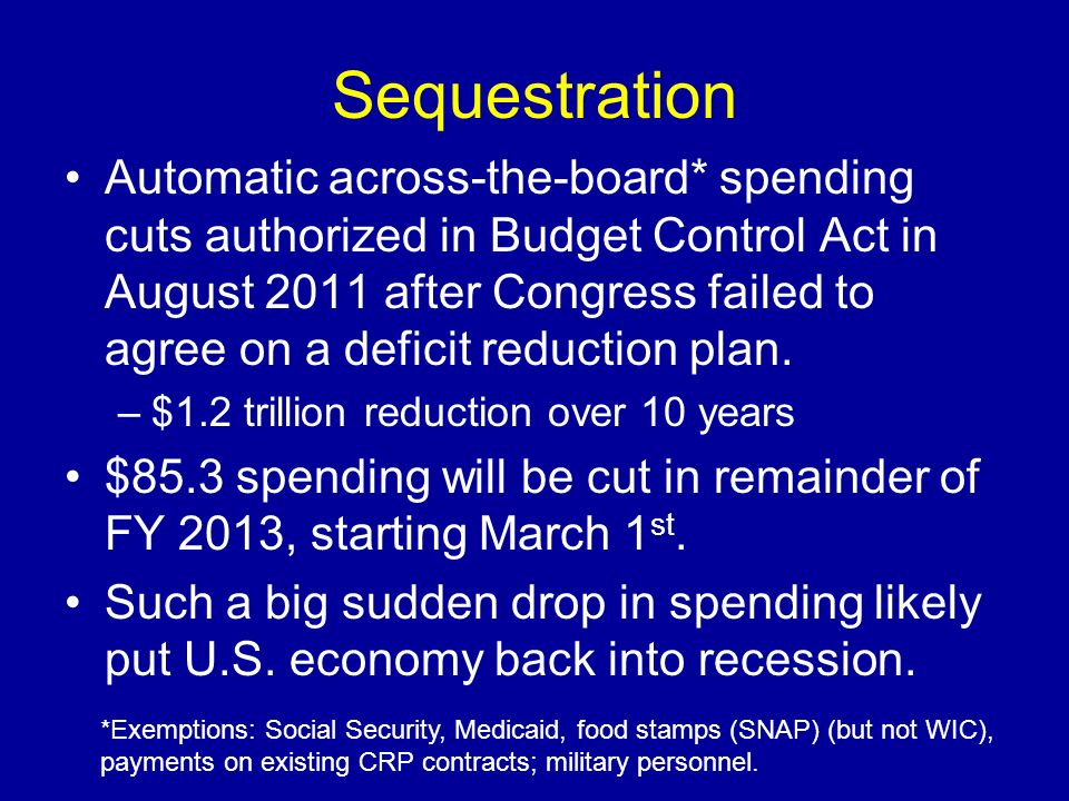 Sequestration
