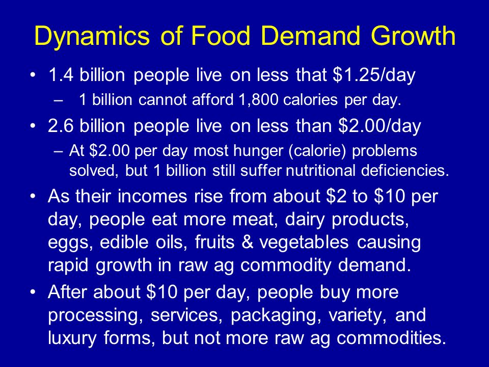 Dynamics of Food Demand Growth