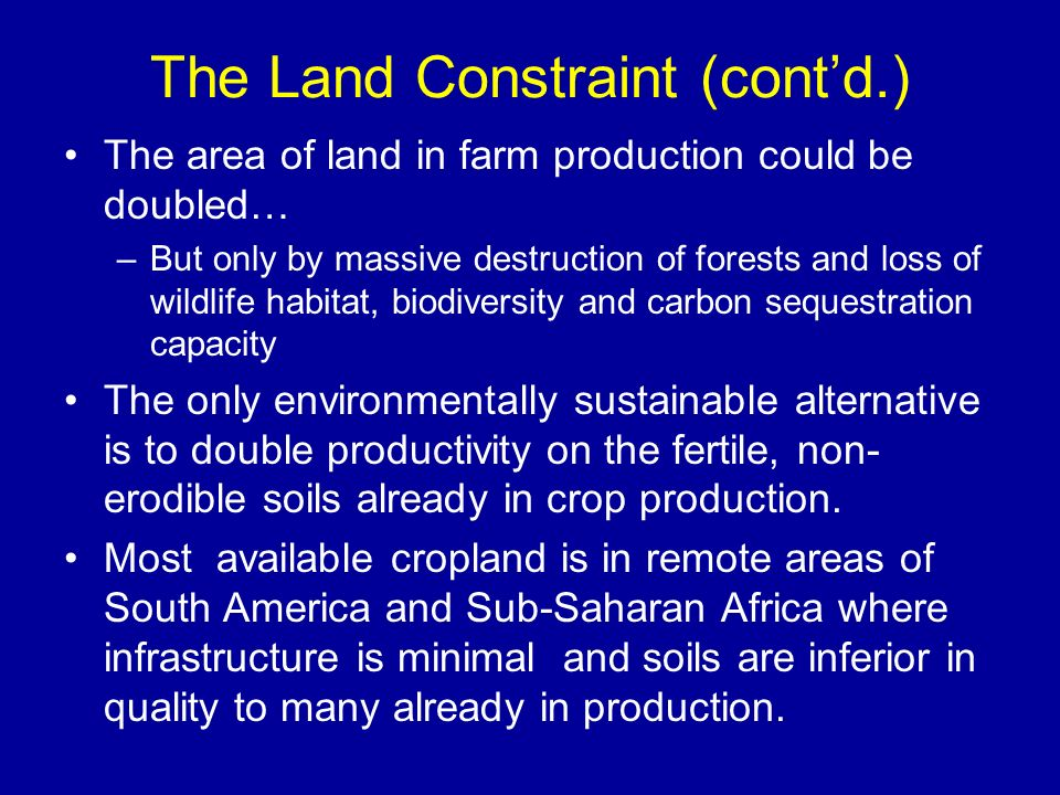 The Land Constraint (cont'd.)