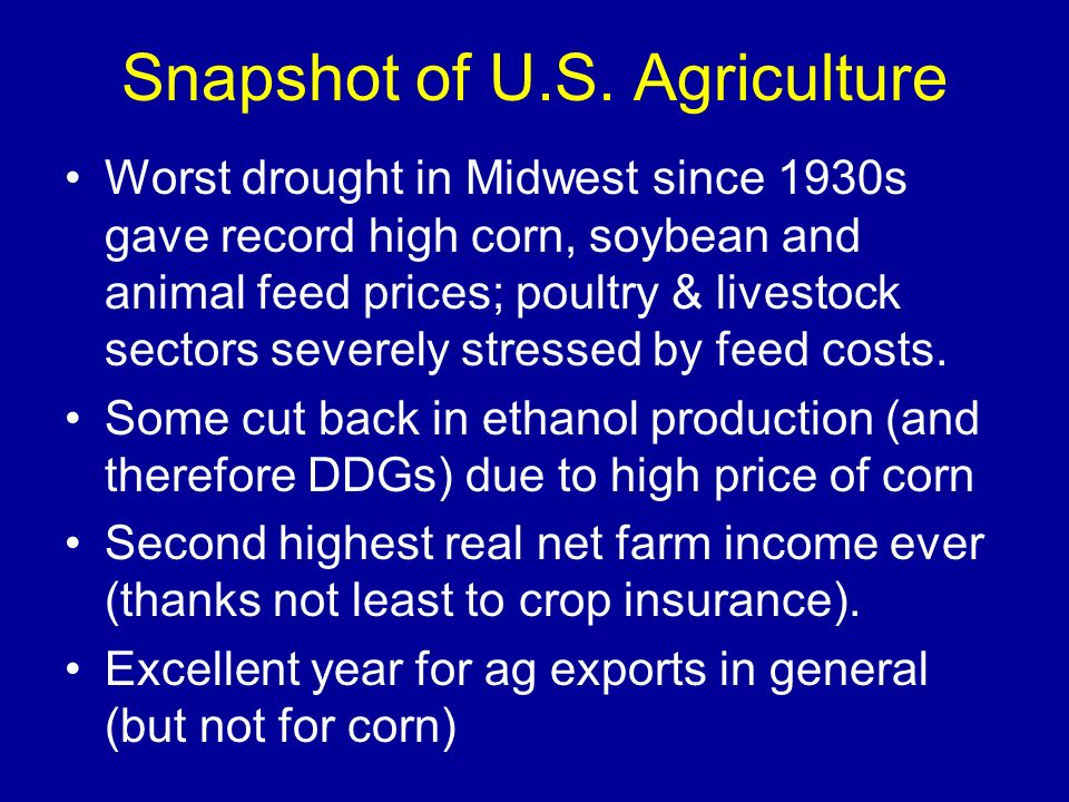 Snapshot of U.S. Agriculture