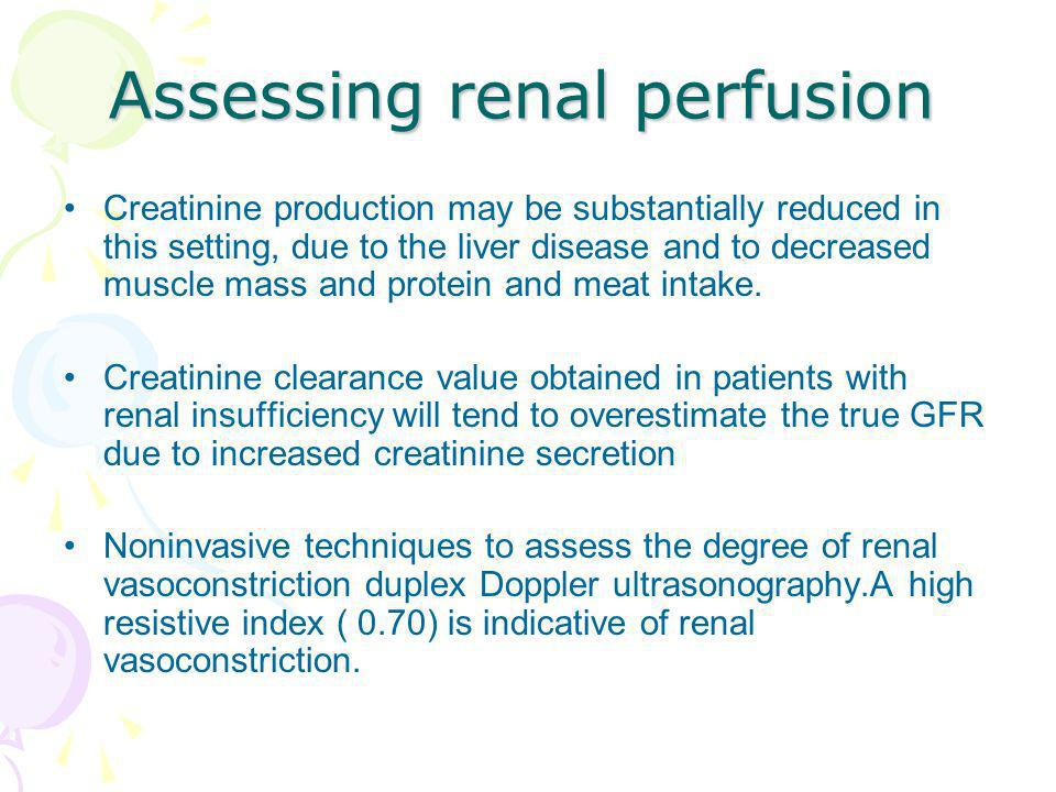 Assessing renal perfusion