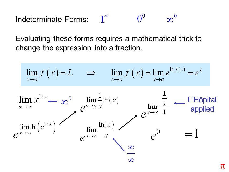 p Indeterminate Forms: