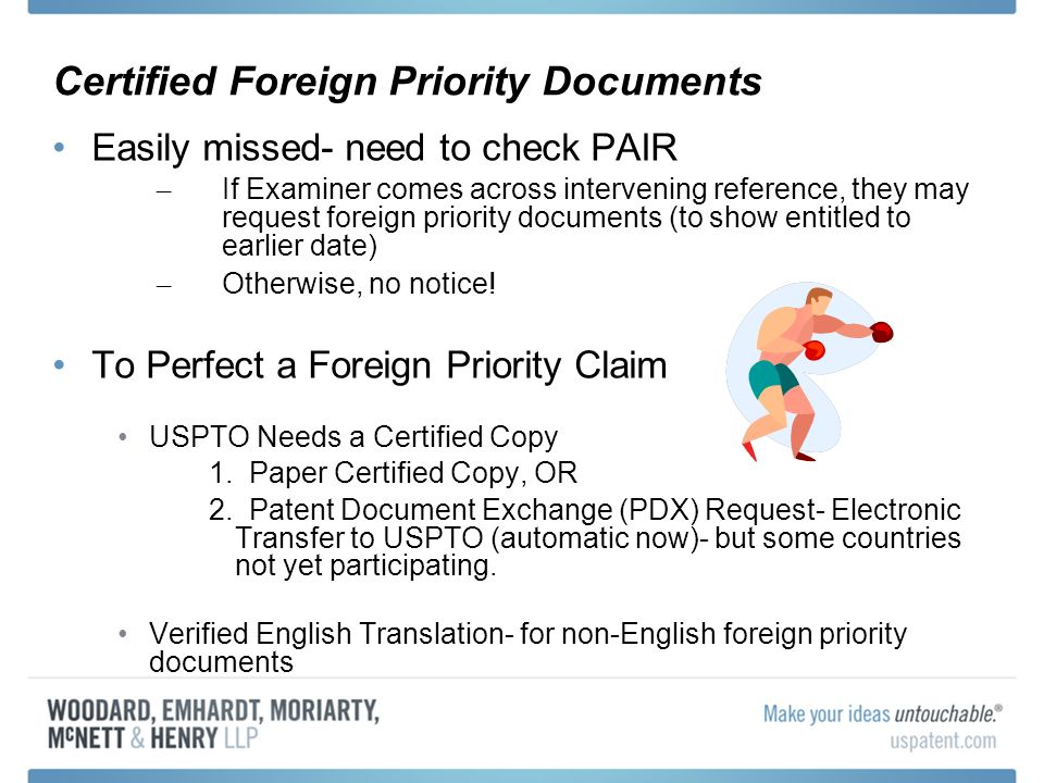 Certified Foreign Priority Documents