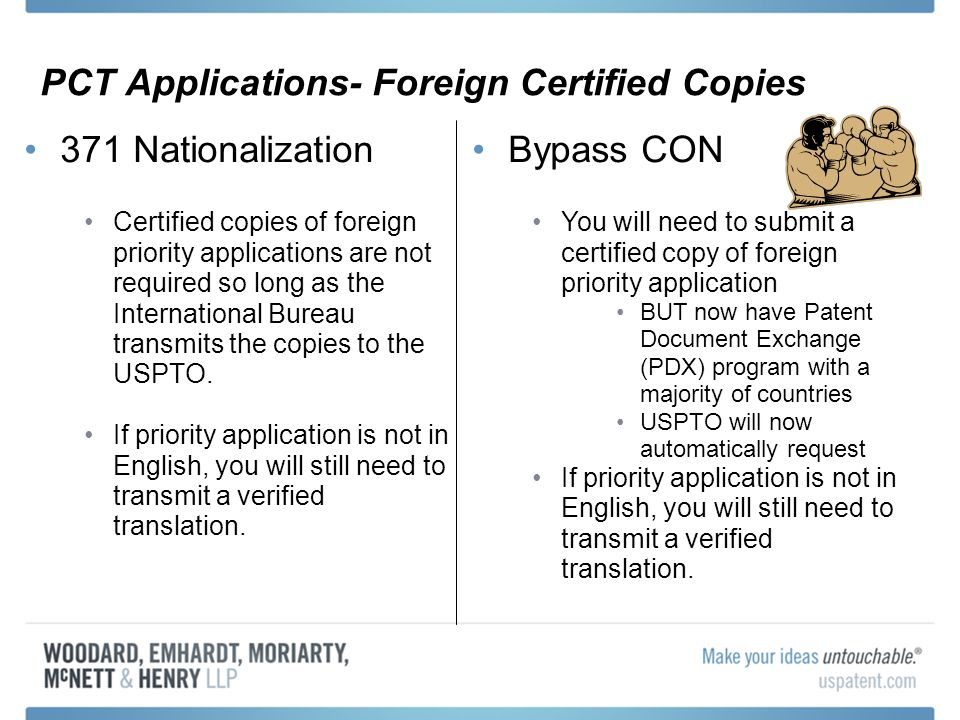 PCT Applications- Foreign Certified Copies