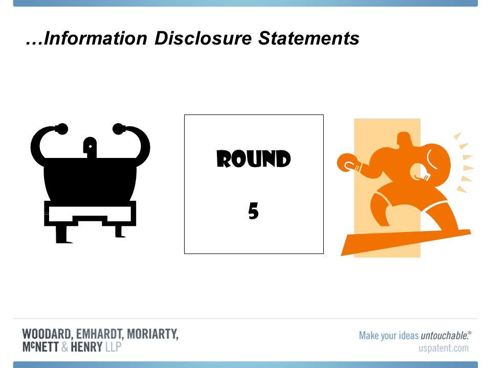 …Information Disclosure Statements