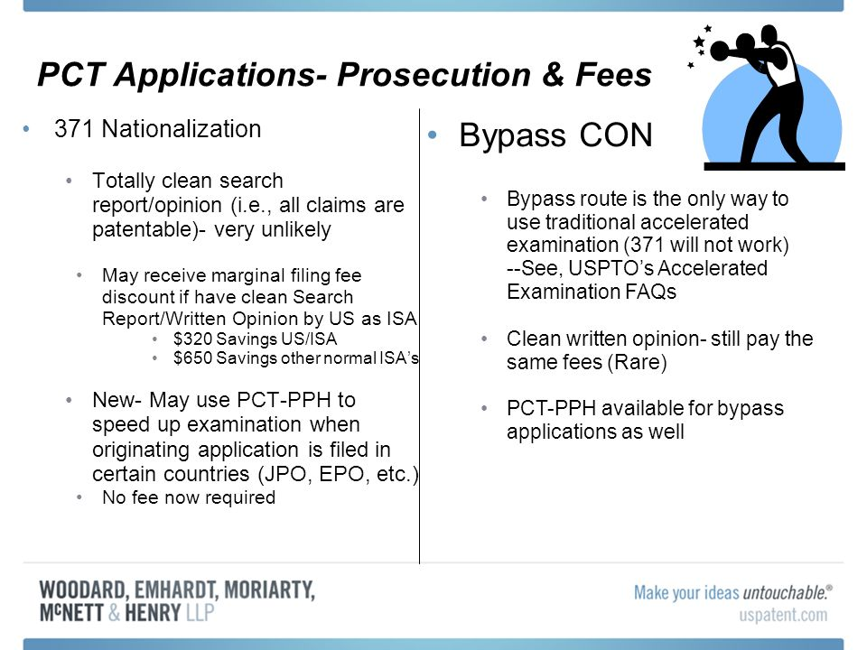 PCT Applications- Prosecution & Fees