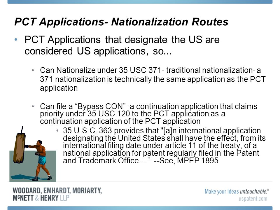 PCT Applications- Nationalization Routes