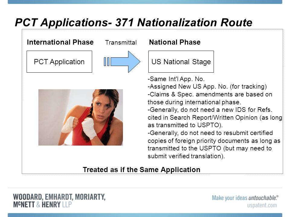 PCT Applications- 371 Nationalization Route