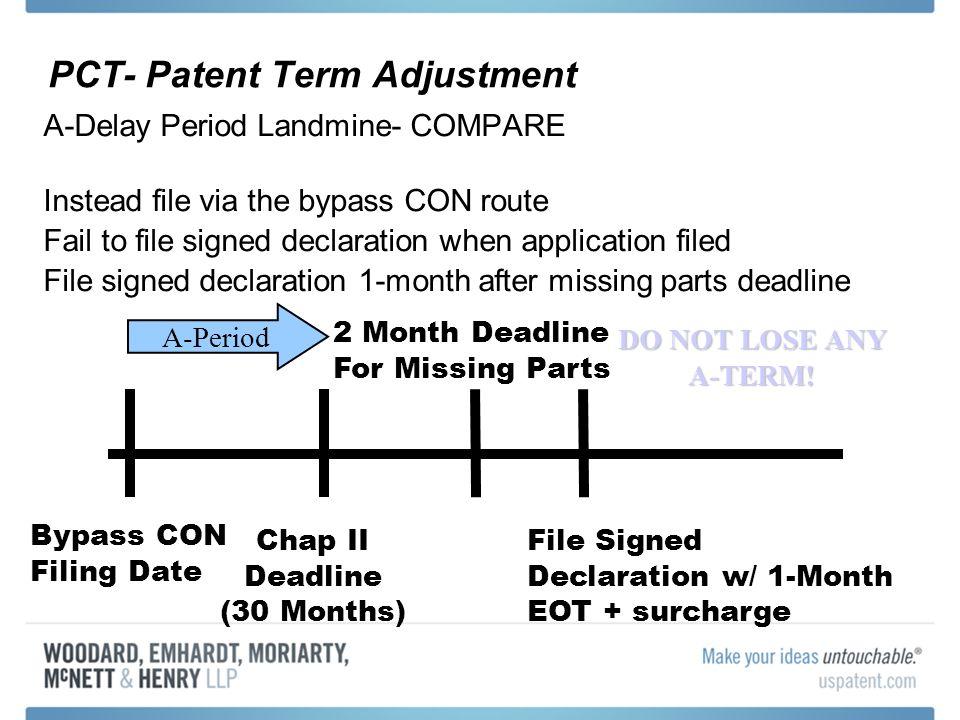 PCT- Patent Term Adjustment