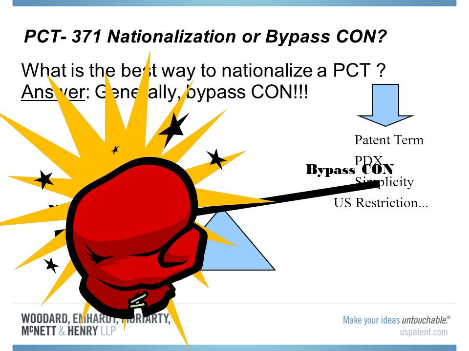 PCT- 371 Nationalization or Bypass CON